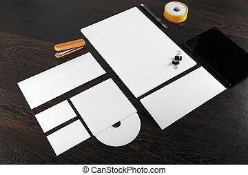 Blank stationery template - Photo of blank stationery and...