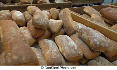 Traditional local bakery products - Close up of delicious...