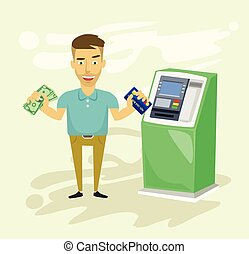 Withdrawing Stock Illustration Images. 1,615 Withdrawing ...