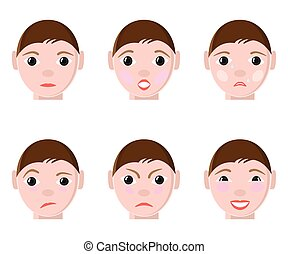 Different Human emotions - Different expretions of Human...