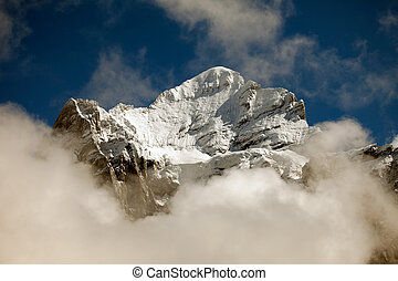 Clouds, ice and snow caps on Eiger,near Grindelwald,...