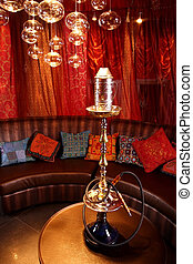 Room in east style for hookah smoking