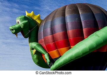 Summer Hot Air Balloon Festival - Hot air balloon with...