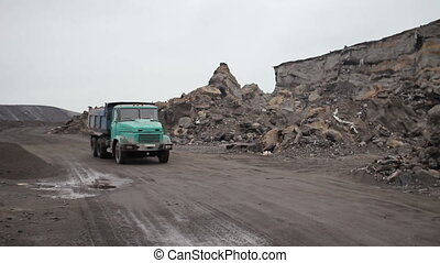 Mining Career and Industrial Car 01 - Truck Driving On A...