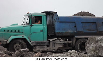 Mining Career and Industrial Car 03 - Truck Driving On A...