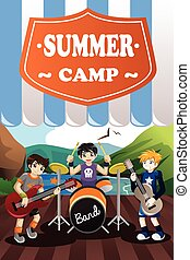 Kids in a Band Summer Camp Flyer