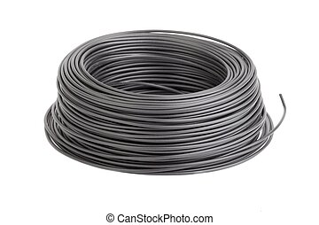 Cable Roll - Roll of black electic wire