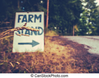 Farm Stand Sign - Rustic Sign For A Farm Stand By The...