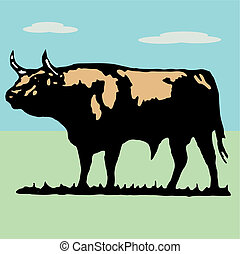 Toro - Bullfighter, bull, typical spanish vector...