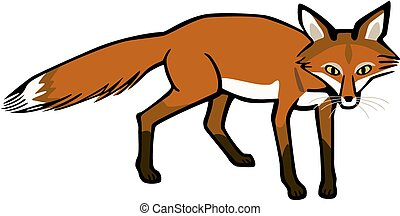 Wild Fox - vector artwork of a wild fox