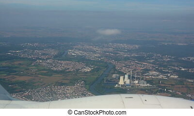 In flight - View from the airplane before landing at...