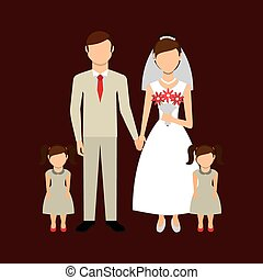 just married design, vector illustration eps10 graphic