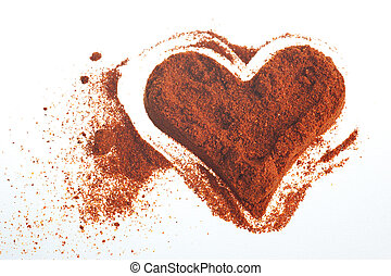 heart red powder