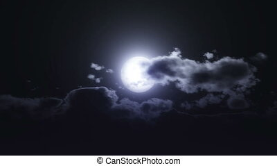 moon night clouds
