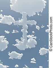 Cloud Cross in Sky