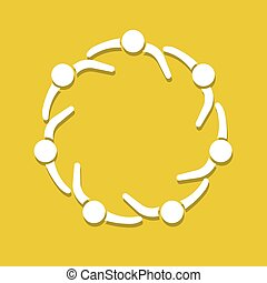 People logo. Partnership circle