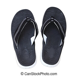 Flip Flop - Pair of big mens flip flop sandals isolated on...