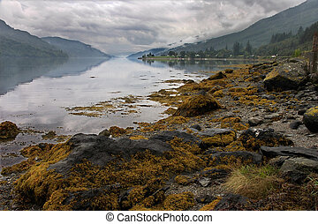 Approaching storm at Loch Long - Heavy cloud over Loch Long...