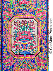 Nasir Al-Mulk Mosque painted tiles