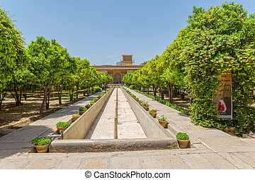 Shiraz Citadel garden - Inside garden of the old citadel...