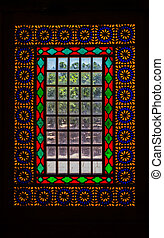 Citadel stained glass vertical - View of the old stained...