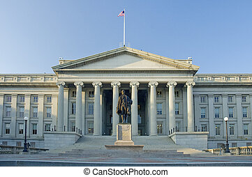 The Treasury Department in Washington D.C., daytime photo