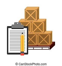 courier service worldwide design, vector illustration eps10...