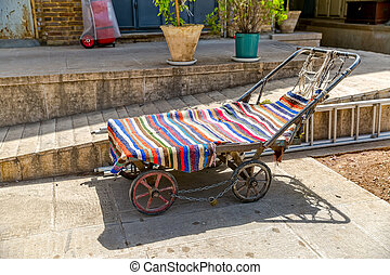 Old Carts in Shiraz - Old carts to transport cargo in the...