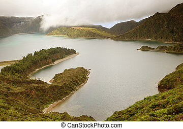 Lake of Fire in Sao Miguel Island - Azores