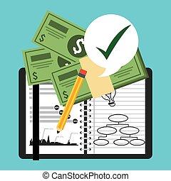monetary analysis design, vector illustration eps10 graphic