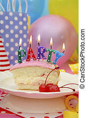Happy Birthday Party Table - Bright colorful Happy Party...