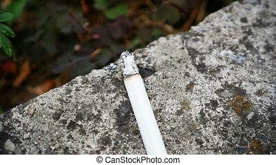 cigarette, slow motion smoke