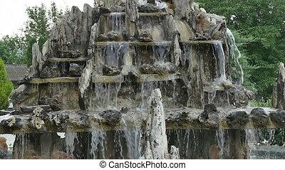 fountain splash slow motion