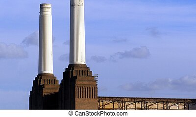 London Battersea powerstation, a landmark abandoned factory...