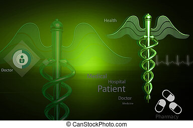 Medical symbol - Digital illustration of Medical symbol in...