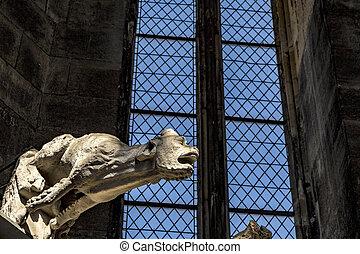 gargoyle (water-spout) of Stephansdom Wien (St. Stephen's...
