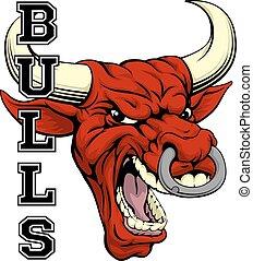 esportes, touros, mascote