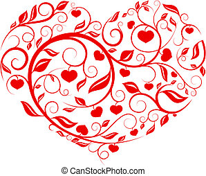 Heart pattern - Love, valentine, pattern series vector with...