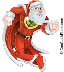 Santa Claus Christmas Superhero