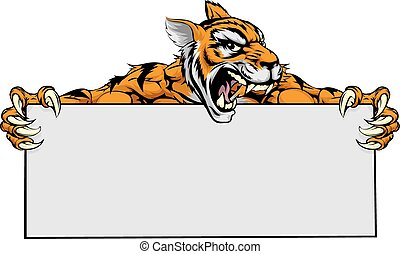 Tiger character sign