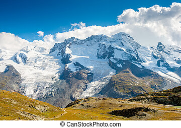 Gornergrat glacier at summer, Switzerland
