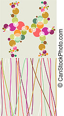 Pop colorful bubbles and lines backgrounds. - Pop style...