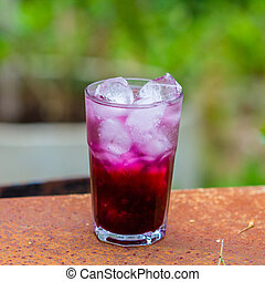grape juice - Red grape  juice on wooden