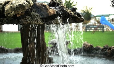 fountain splash waterfall