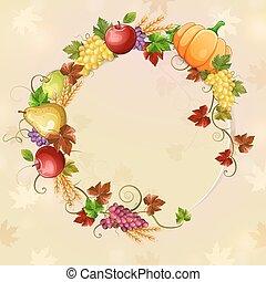 Autumn illustration.
