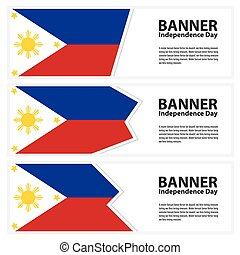 Philippines Flag banners collection independence day -...