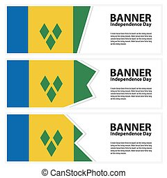 st vincent & the grenadines Flag banners collection...