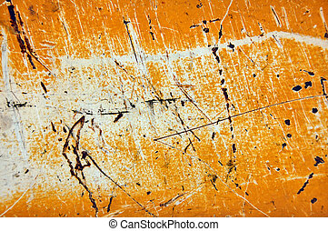 scratched metal sheeting