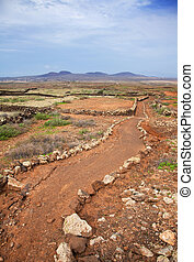 Northern Fuerteventura, walking path from Lajares to...