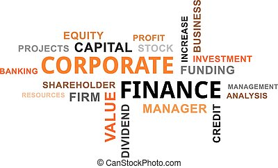 word cloud - corporate finance - A word cloud of corporate...